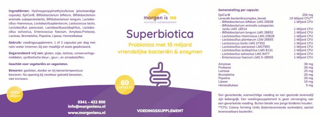 Morgen is Nu Superbiotica