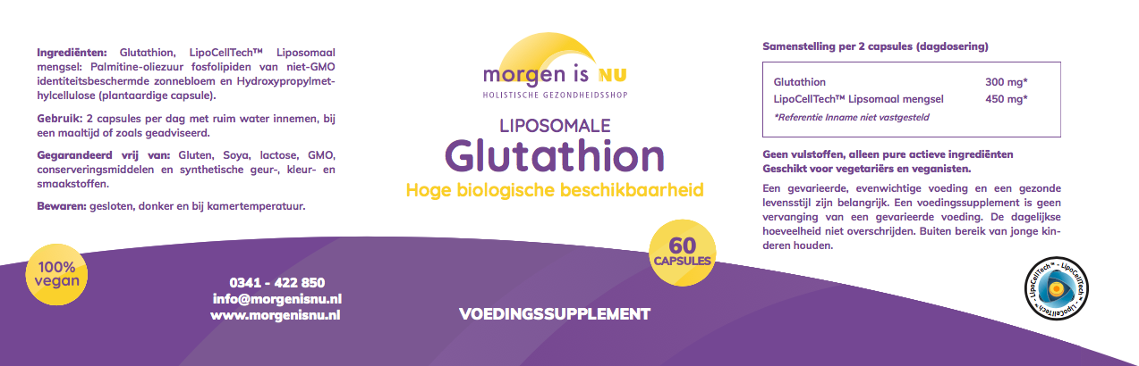 Morgen is nu Liposomale Glutathion