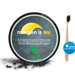 Morgen is nu Activated Charcoal 15gr + bamboe tandenborstel
