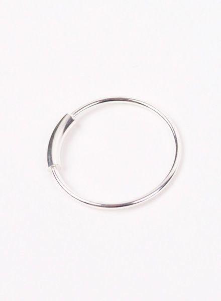"Jukserei Ring ""Tube"" Silver"