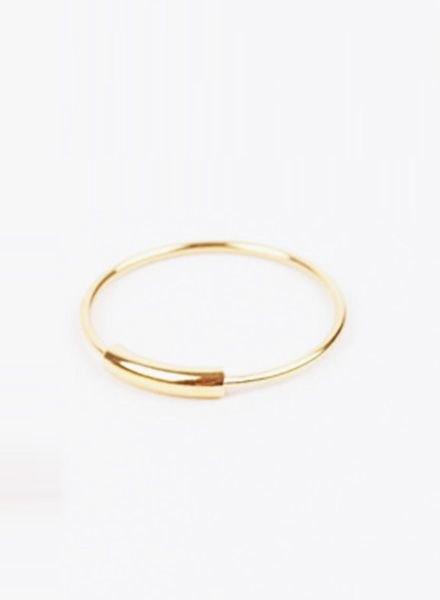 "Jukserei Ring ""Tube"" Gold"