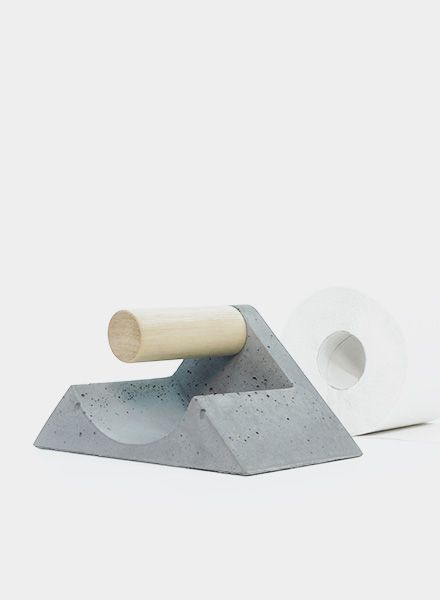 WertWerke Klorollenhalter - aus Beton ohne chemischen Zusätzen