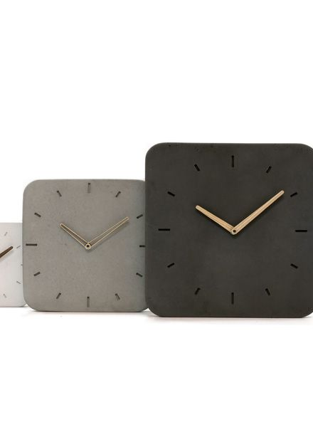 """WertWerke Wall Clock """"Classic M"""" anthracite - with wooden ash hand"""