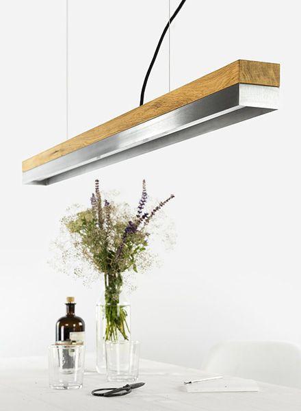GANTlights Gantlights pendant light [C1] - ceiling lamp made of one piece of solid oak wood