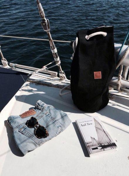 """Marin et Marine Seesack """"Sac Marin"""" im maritimen Look aus bio Baumwolle"""