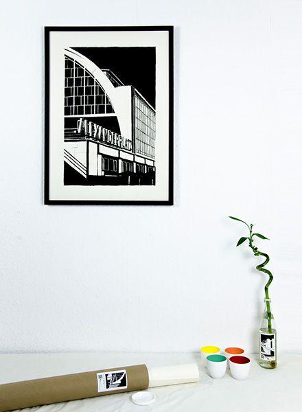 "Blackout Cities Poster ""Alexanderplatz"" - Handsigniert und limitierte Edition!"