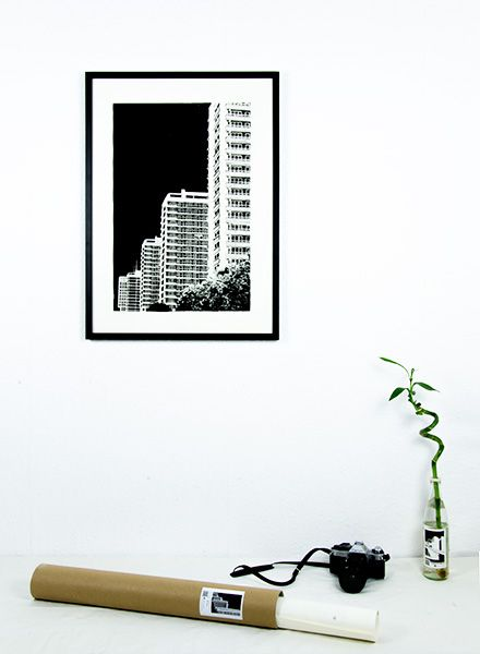"Blackout Cities Poster ""Leipziger Strasse"" - signed by hand and limited edition!"