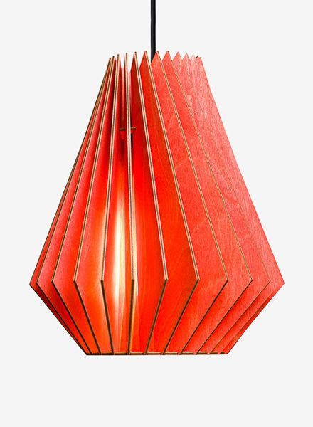 """IUMI Pendant lamp """"Hektor L"""" - made of birch plywood in 6 colours"""
