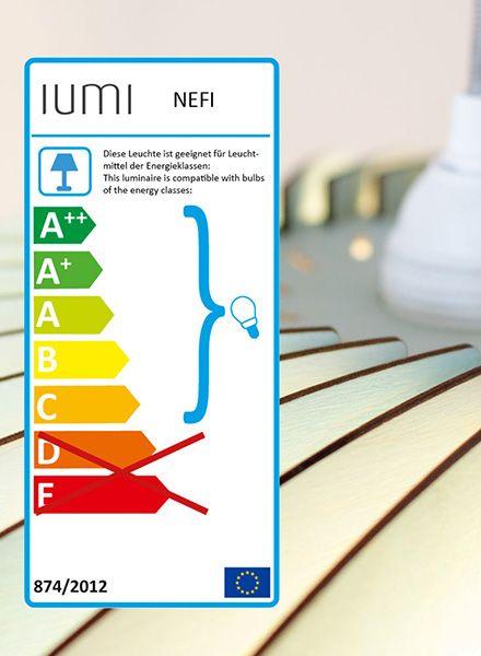 """IUMI Hängeleuchte """"Nefi"""" - Aus Birkenholz in 6 verschiedenen Farben"""