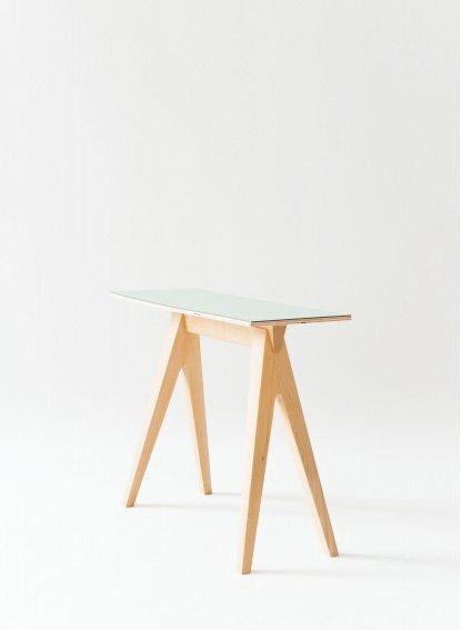 Alex Valder Tisch Tischle - Buchenholztisch mit Laminatplatte