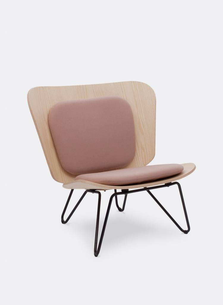 """Bartmann Berlin Lounge chair """"Lenz"""" - Made of curved ash plywood"""