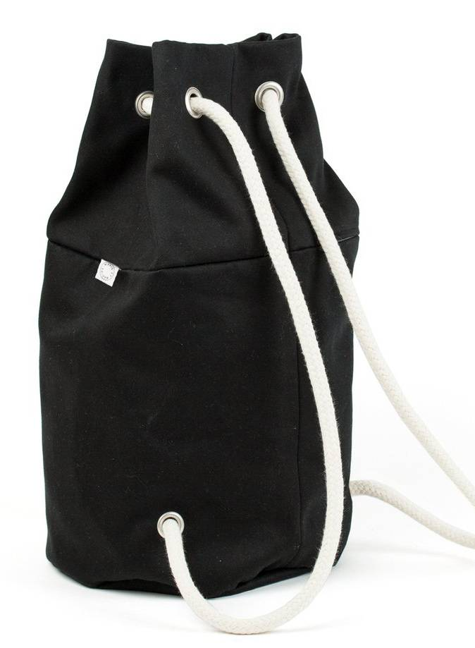 "Marin et Marine Backpack ""rainbag"" black - made of sturdy, water and dirt resistent cotton"