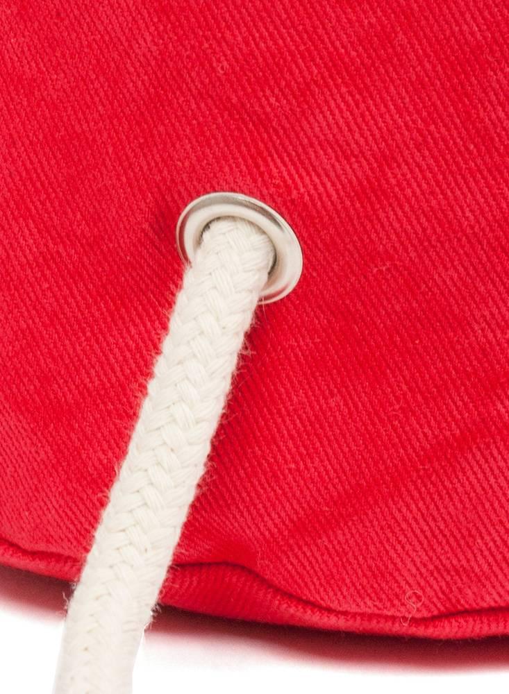 "Marin et Marine Maritime Backpack ""Sac Marin"" Hibiscus made of 100% organic cotton"
