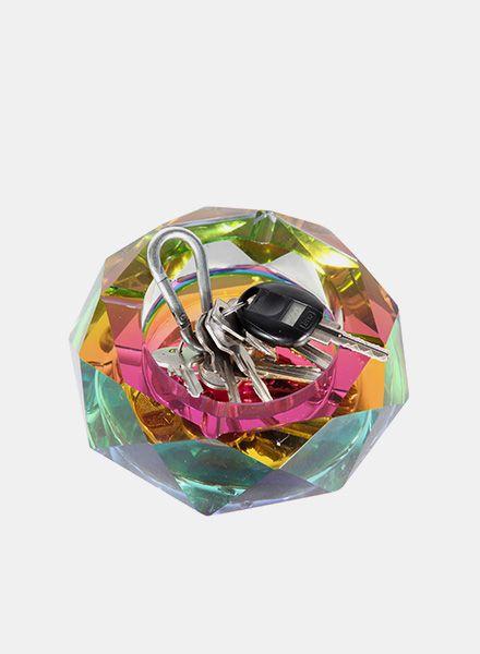 """Fundamental Schale """"Regenbogen"""" - Aschenbecher/ Schale aus Bleikristall"""
