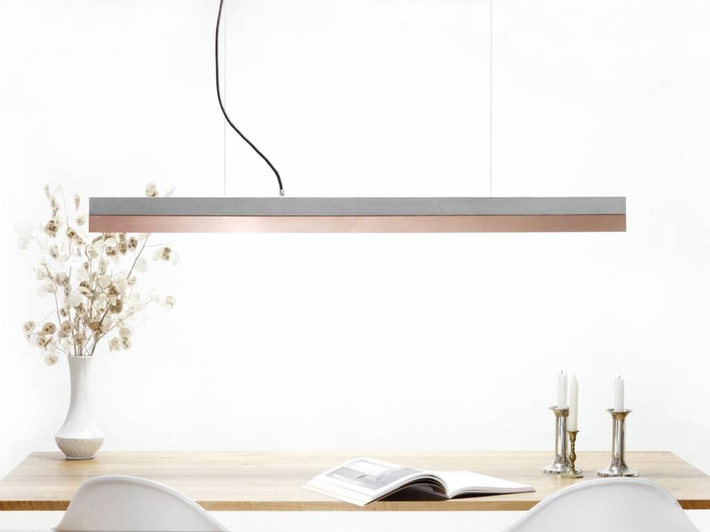 GANTlights Gantlights pendant lamp [C1] - lamp with light grey concrete body and lampshade made of cooper
