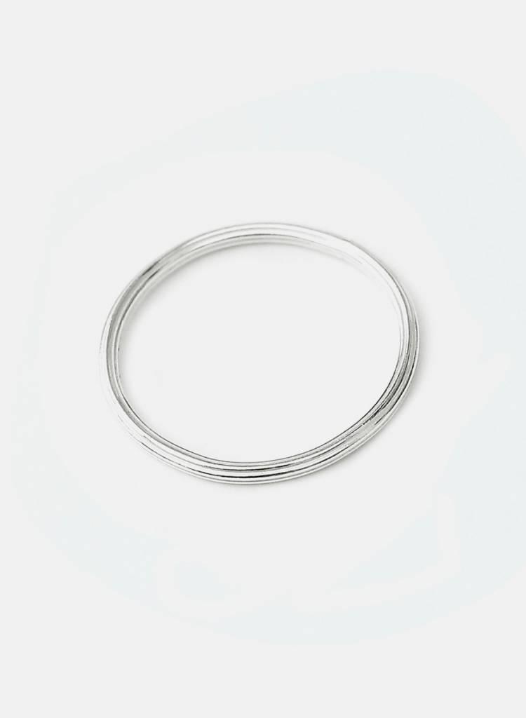 "Jukserei Ring ""Rille"" Silver - handmade of 925 sterling silver"