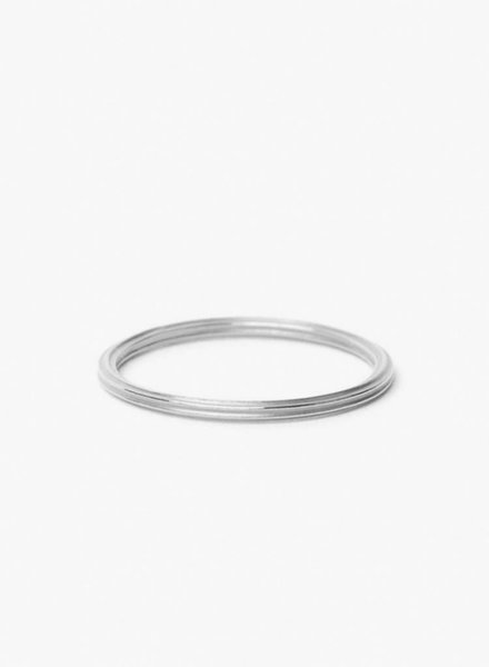 "Jukserei Ring ""Rille"" Silber"