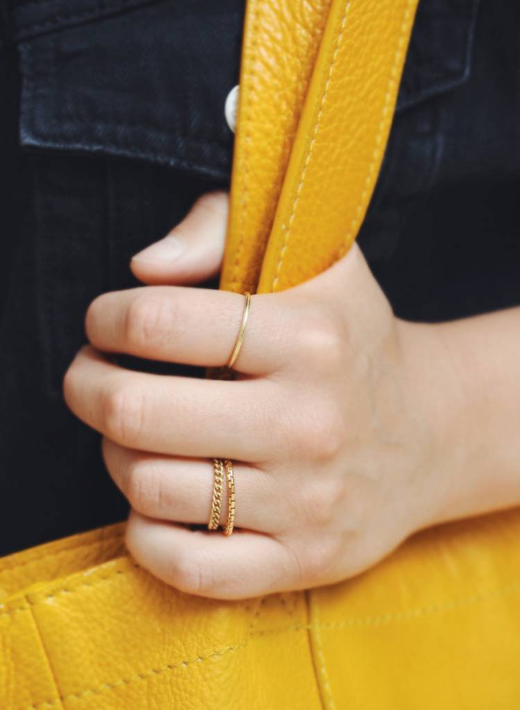 """Jukserei Ring """"Rille"""" Gold - handmade of gold plated  925 sterling silver"""