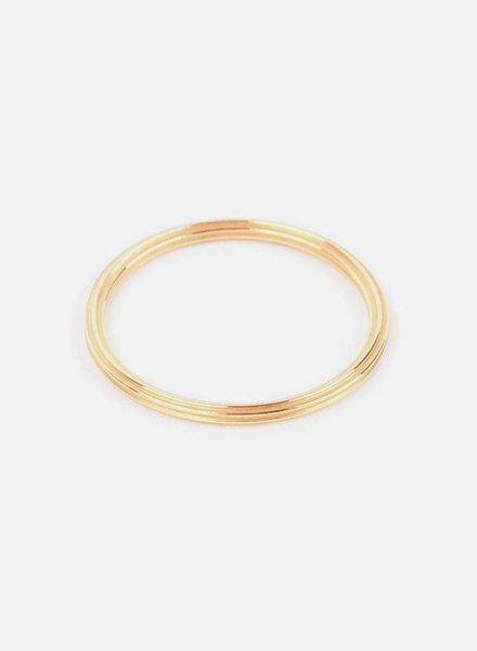 """Jukserei Ring """"Rille"""" Gold"""