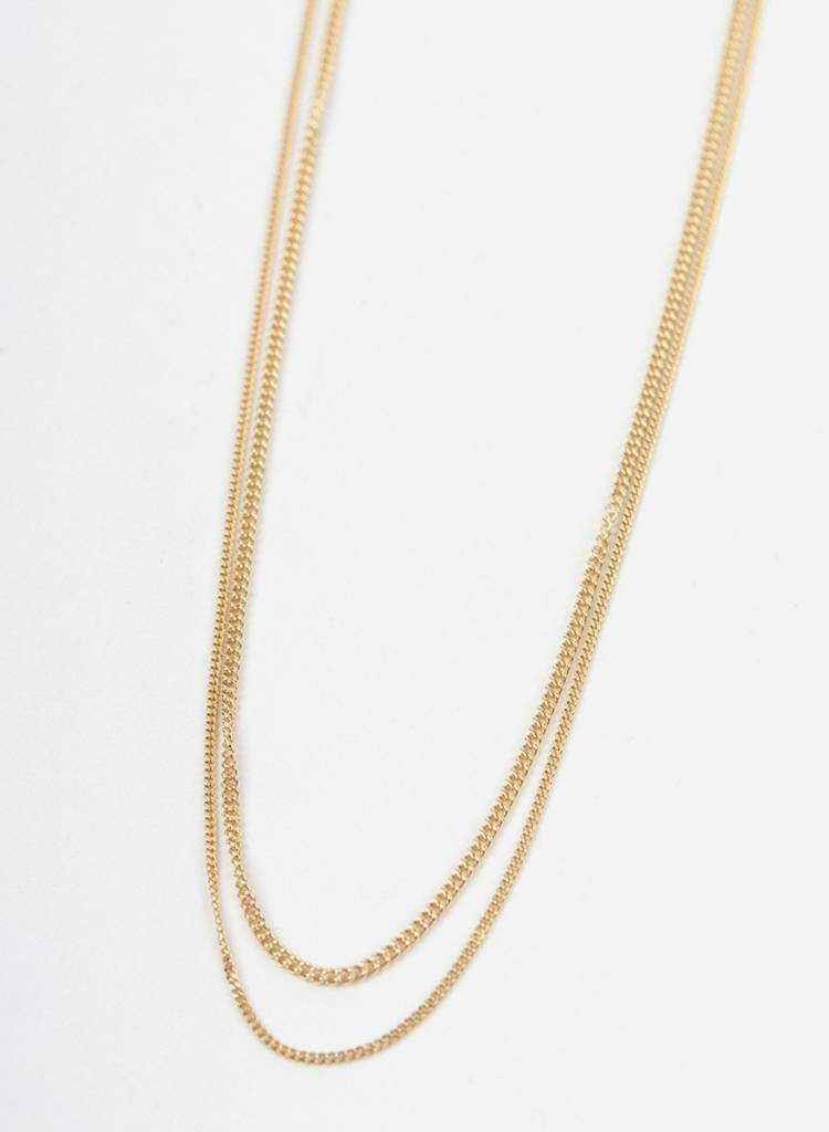"Jukserei Necklace ""Le Double Grumetta"" Gold is made of gold plated 925 sterling silver"