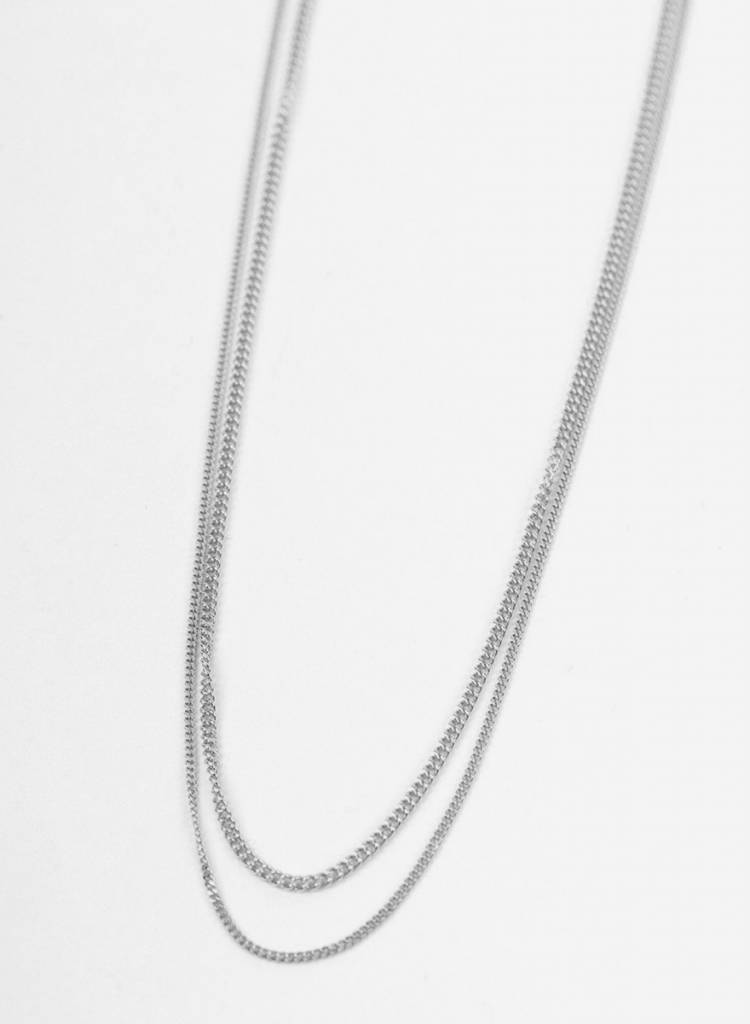 """Jukserei Necklace """"Le Double Grumetta""""  Silver is made of 925 sterling silver"""