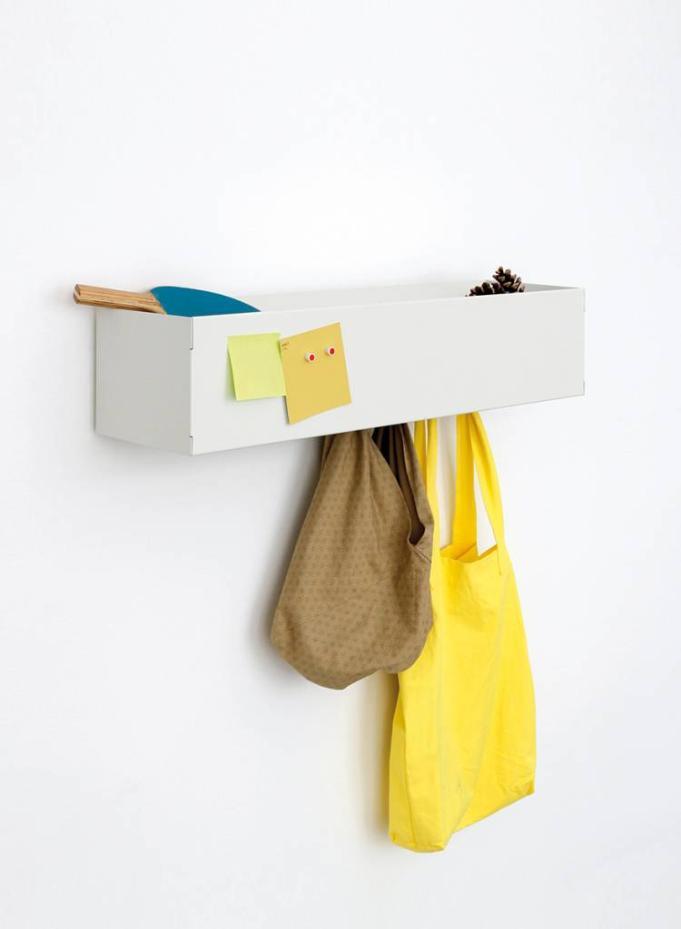 "Linea1 Coat rack ""Linea1_cr"" - Wardrobe made of galvanized sheet steel"