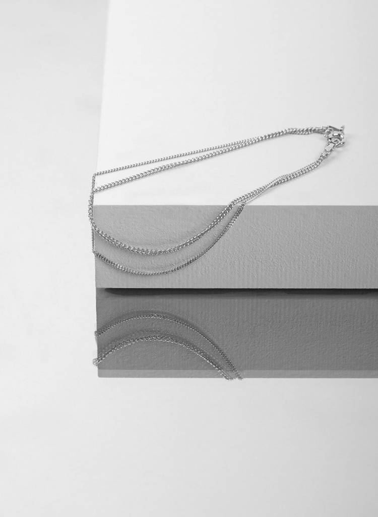 """Jukserei Bracelet  """"Le Double Grumetta""""  Silver is made of 925 sterling silver"""