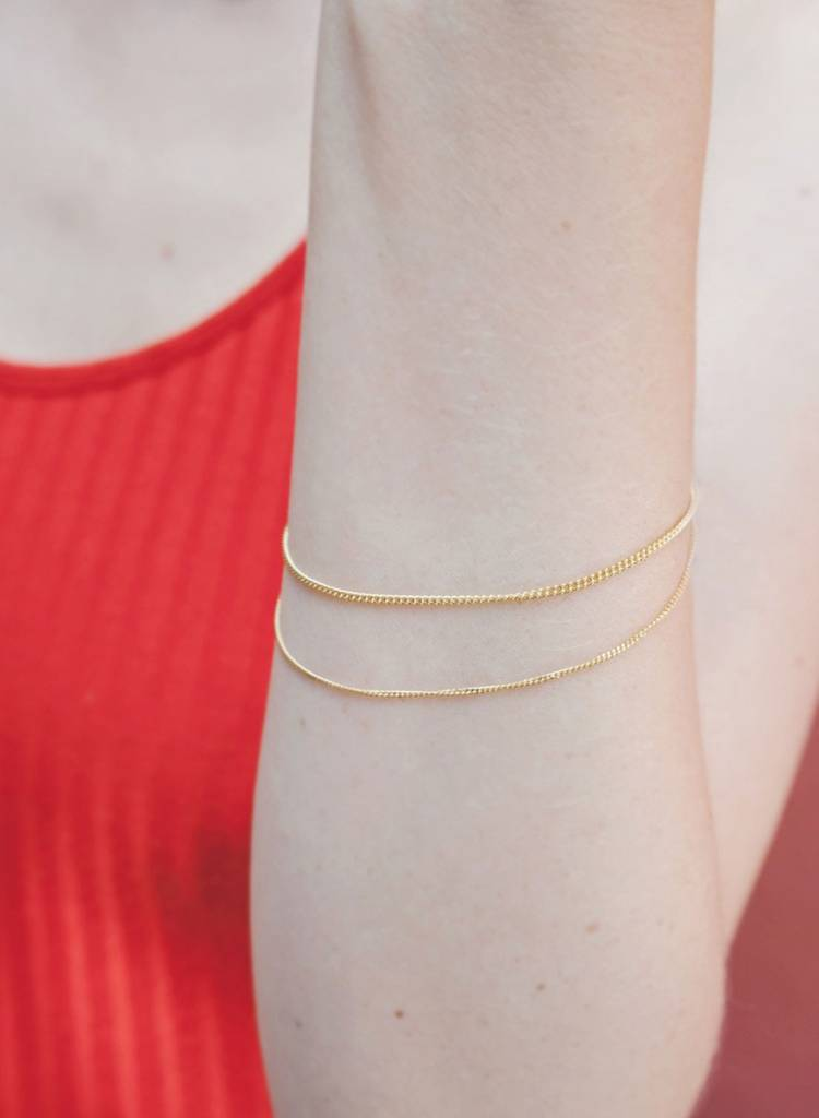 """Jukserei Bracelet  """"Le Double Grumetta""""  Gold is made of gold plated 925 sterling silver"""