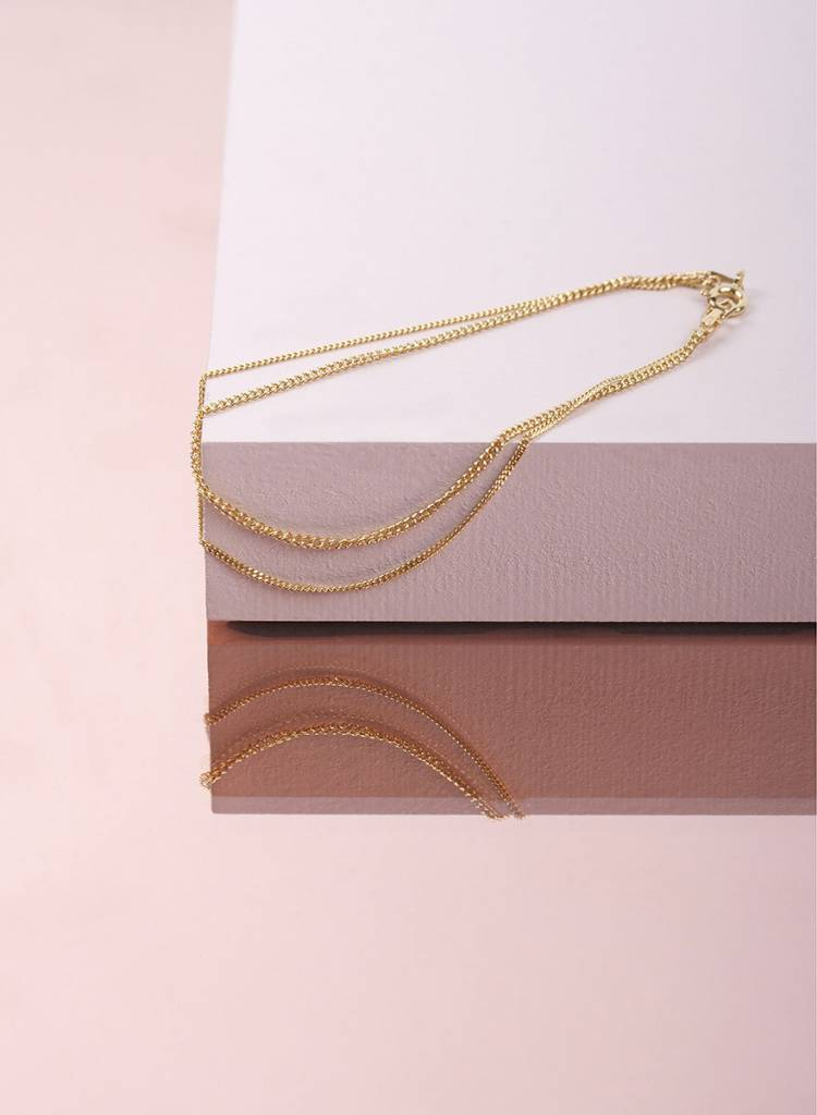 "Jukserei Armkette ""Le Double Grumetta"" Gold - hergestellt aus vergoldetem 925er Silber"