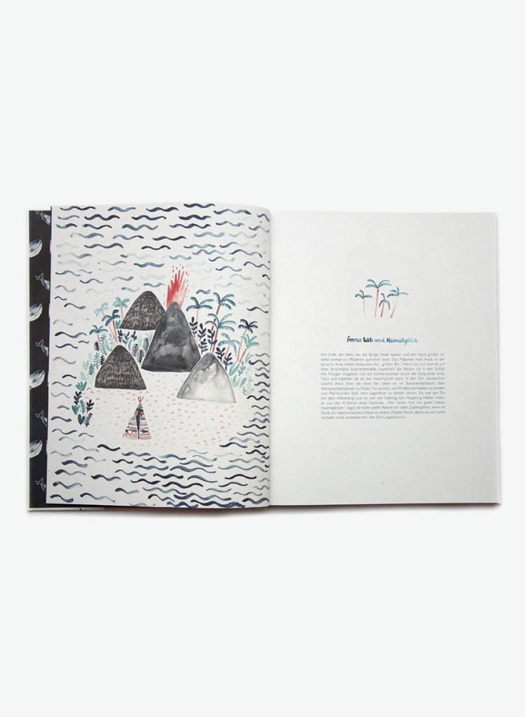 """Gretas Schwester Children's book """"Von wilder Welt und Wanderlust"""" -  Narrative with  illustrations"""