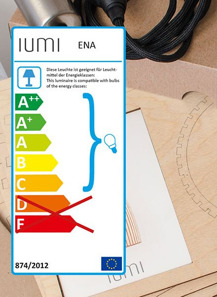 """IUMI Pendant lamp """"ENA L"""" - made of birch plywood in 6 colours"""