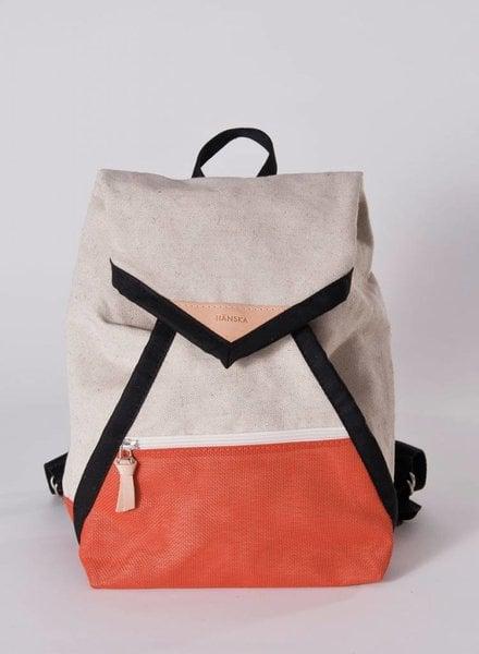 "Hänska Backpack ""Catamaran Rust Linen"""