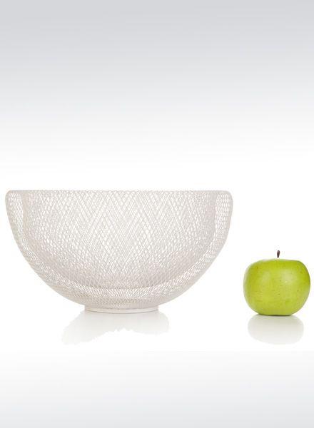 Fundamental Nest Bowl white - Powder coated steel mesh fruit bowl or lampshade