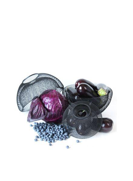 Fundamental Nest Bowl black - Powder coated steel mesh fruit bowl or lampshade
