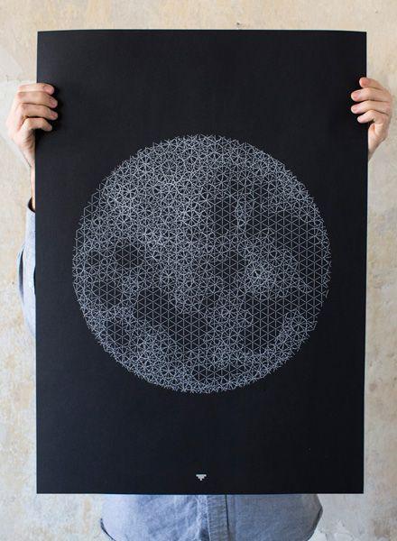 Fundamental Push Moon I Poster
