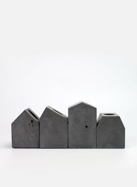 Lalupo Betonbude Set I Kerzenhalter aus Beton