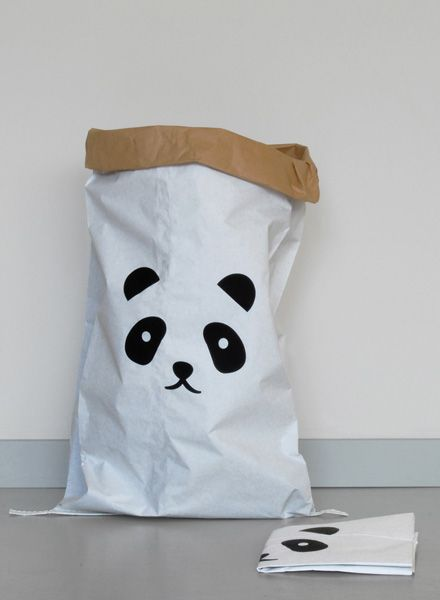 "Kolor Papiersack ""Panda"" - Laglebiger Aufbewahrungssack aus Altpapier"