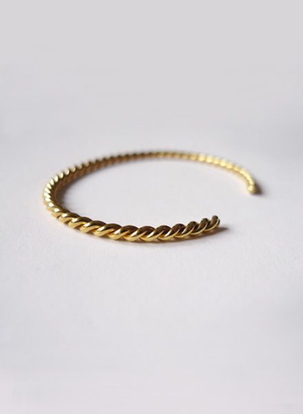 """Felicious Bracelet """"Twisted"""" - Two times diamond knurled and slightly bendable"""