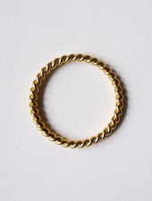 "Felicious Ring ""Twisted Gold"""