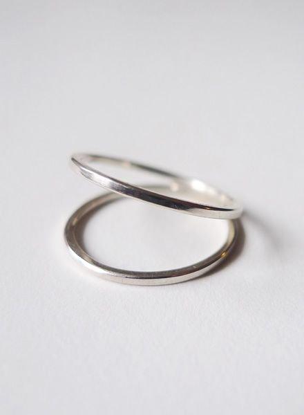 """Felicious Ring """"Hoops Silber"""""""