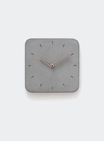 "WertWerke Concrete clock ""classic S"" grey"
