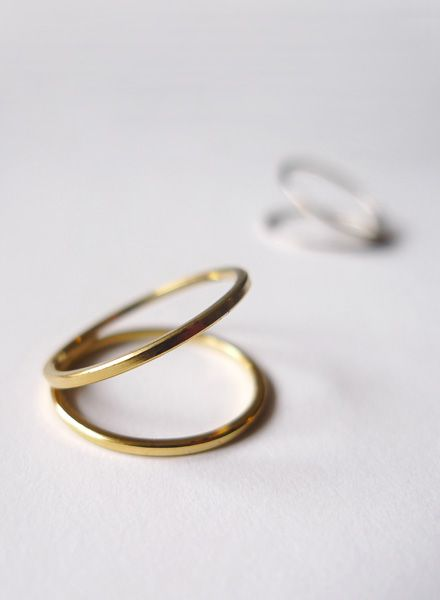 """Felicious Fingerring """"Hoops Gold"""" - 925 Silver plated with 750 Gold"""