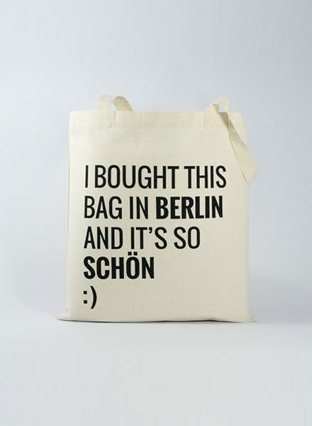 "Officine Berlinesi Tote bag ""I bought this"""