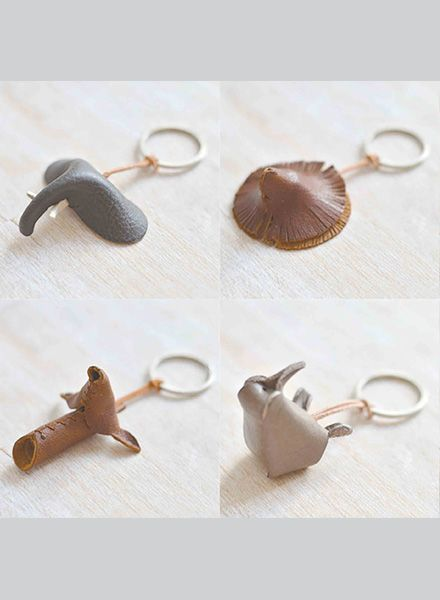 """Yushi Soshiroda Key chain """"Animal"""" made of leather available in 8 different characters"""