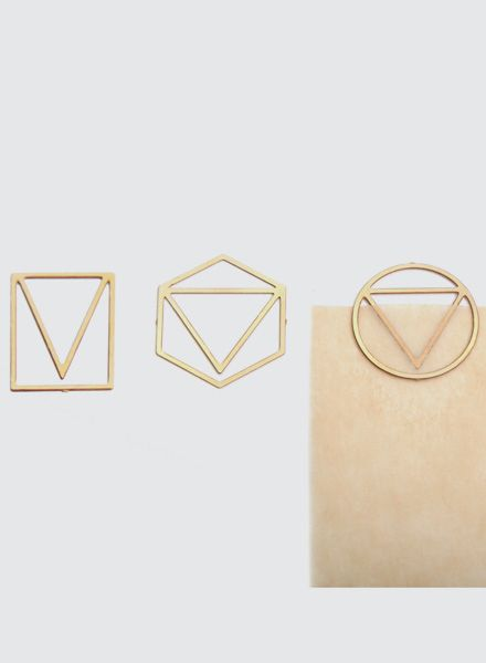 Fundamental Paperclip - Brass paper-clips with 3 different designs