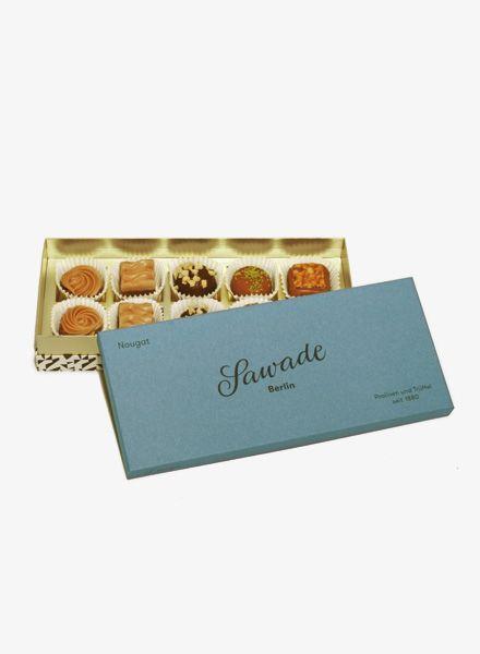 "Sawade Box of Chocolates ""Nougat""- fine pralinés, truffles & chocolate specialties from Berlin"
