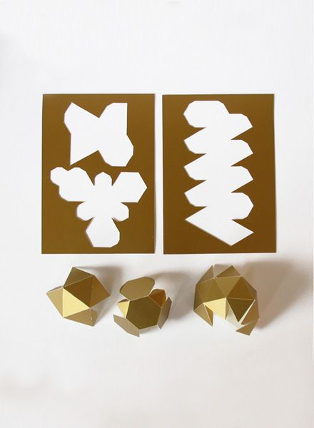 Kolor Paper jewellery I Gold, Silver and White