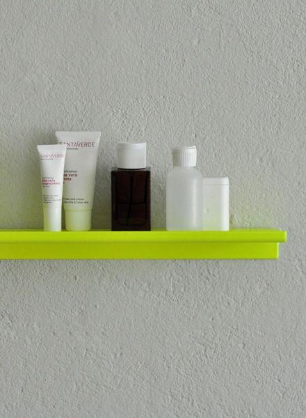 "Kolor Wall shelf ""Z-shelf"" - Shelf neon yellow powder coated"