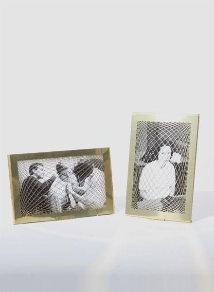 """Fundamental Picture frame """"Rauter Frame"""" in brass available in 2 sizes"""