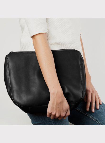 "Marin et Marine Damen-Handtasche ""Ombre clutch nuit"" aus ökologisch gegerbtem Rindsleder"